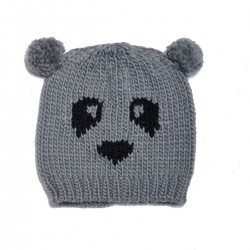 Biston fashion accessories - panda beanie πλεχτός σκούφος